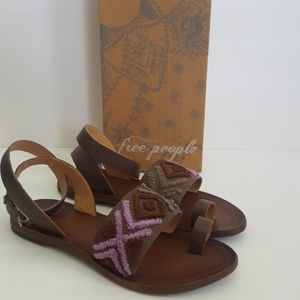 New Free People Torrance Leather Sandals
